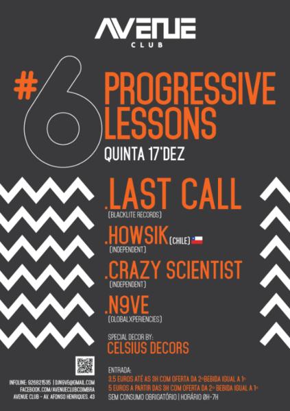 Party Flyer Progressive Lessons #06 17 Dec '15, 23:30