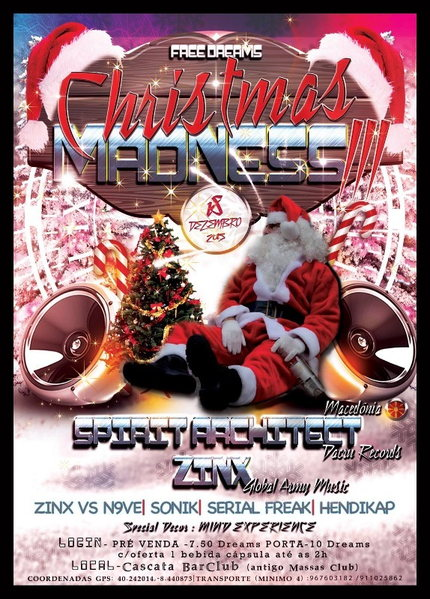 Party Flyer CHRISTMAS MADNESS III 18 Dec '15, 23:30