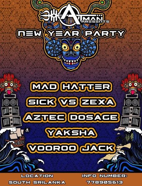 Party Flyer atman new year 5 31 Dec '15, 22:00