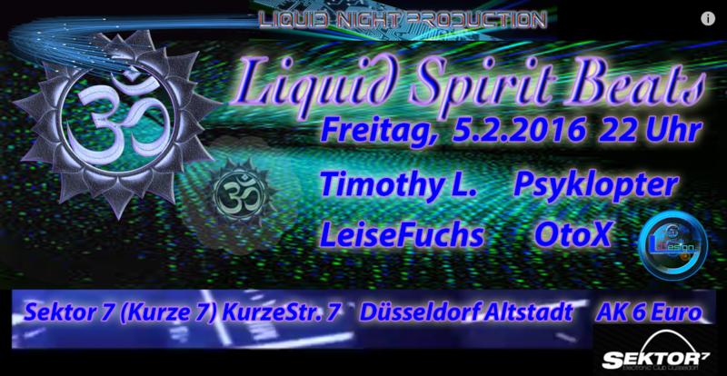 Party Flyer Liquid Spirit Beats 5 Feb '16, 22:00