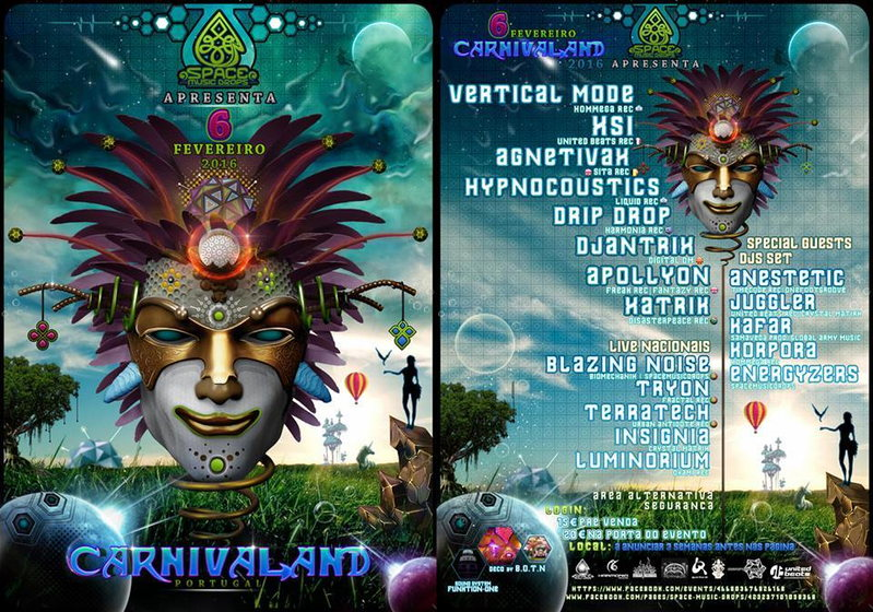 Party Flyer ██►CARNIVALAND III ◄██►BY Space Music Drops 6 Feb '16, 20:00