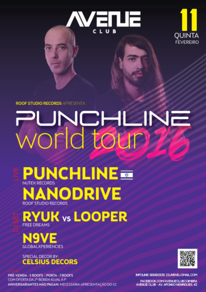Party Flyer PUNCHLINE WORLD TOUR - COIMBRA 11 Feb '16, 23:30