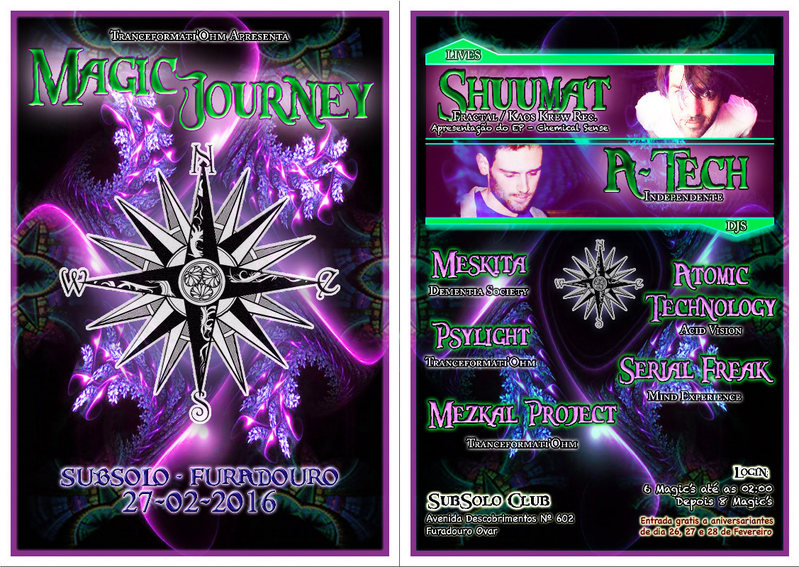 Party Flyer MAGIC JOURNEY 1ª Edição 27 Feb '16, 23:30