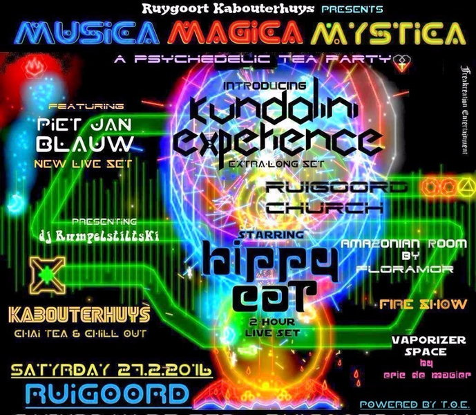 Party Flyer Trance Orient Express ॐ MUSICA MAGICA MYSTICA, a psychedelic tea party 27 Feb '16, 23:00