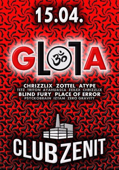 Party Flyer ▶ GlolA ▶▶ Prog ● Psy ● Dark ● Hitech 15 Apr '16, 22:00