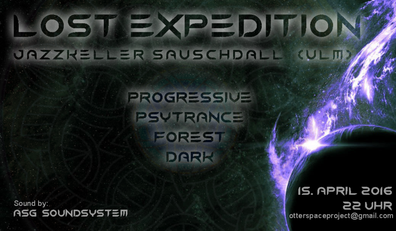 Party Flyer Lost Expedition 15 Apr '16, 22:00