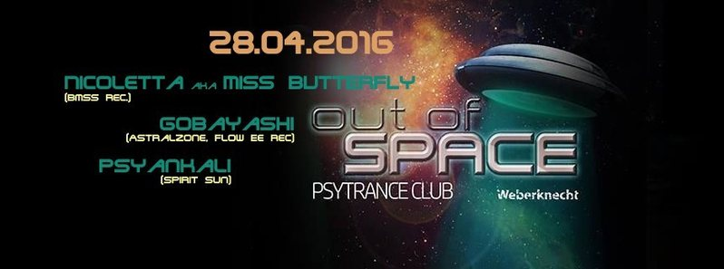 OUT OF SPACE@WEBERKNECHT hosted by BASSPRODUCTION 28 Apr '16, 22:00