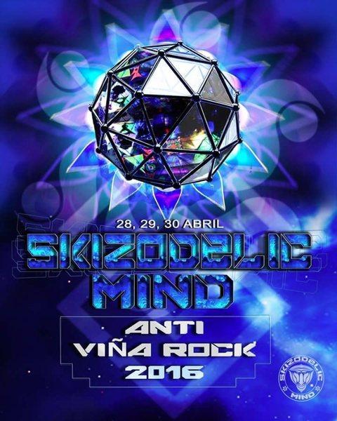"Skizodelic Mind ""Antivinas 2016"" 28 Apr '16, 22:00"