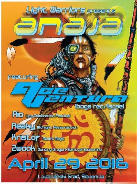 Party Flyer ANAJA presents Ace Ventura Live ! by Light Warrior & Apsurdistan 29 Apr '16, 22:30