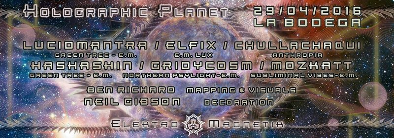 Holographic Planet 29 Apr '16, 22:00