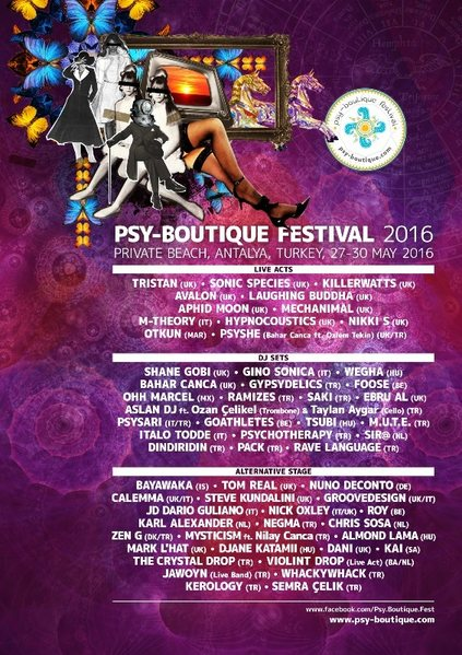 Party Flyer PSY-BOUTIQUE FESTIVAL 2016 - 4th Edition 27 May '16, 18:00