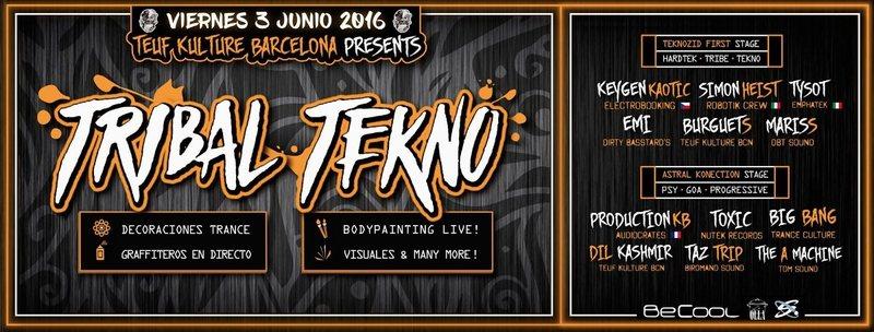 03/06 ★ Teuf Kulture Party ★ Tribal Tekno ★ Special Guest: Keygen Kaotic · Simo 3 Jun '16, 23:30