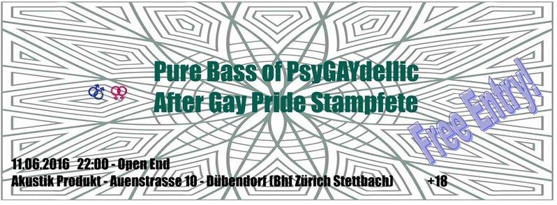 Party Flyer Pure Bass Of PsyGayDellic 11 Jun '16, 22:00