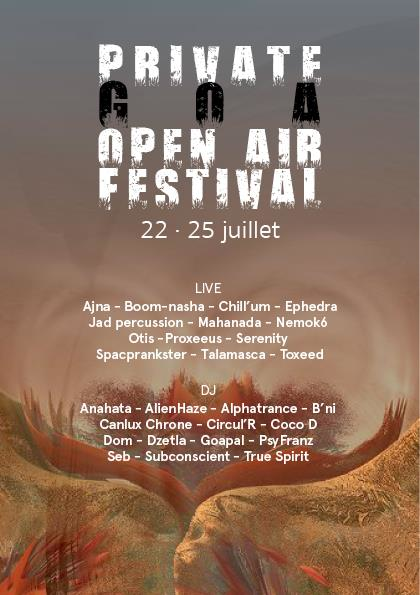Party Flyer Private Goa Open Air Festival 22 Jul '16, 20:00