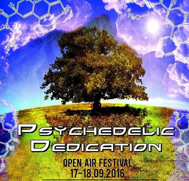 Party Flyer PSYCHEDELIC DEDICATION FESTIVAL 24 Sep '16, 14:00