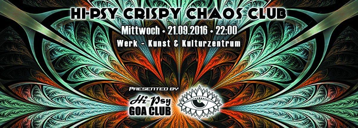 Party Flyer HPC³ - HiPsy Crispy Chaos Club 24 Sep '16, 22:00