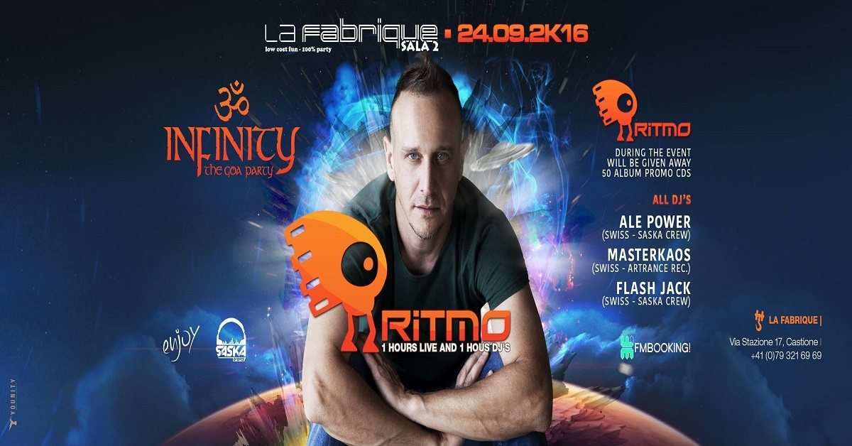 Infinityॐ Ritmo 2 Hours Set 24.09.2k16 24 Sep '16, 23:30