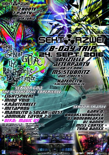 Sektor Zwei B-Day TRIP - offizielle AFTERPARTY@ MS STUBNITZ 24 Sep '16, 23:00