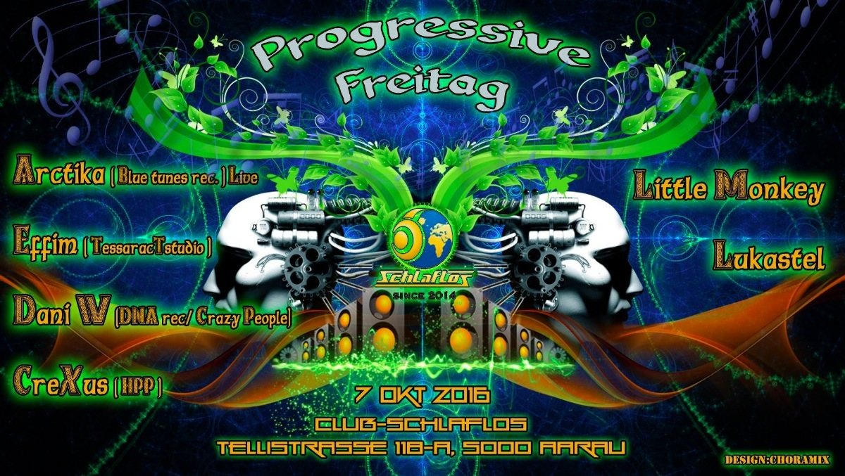Party Flyer Progressive Freitag W Arctika 7 Oct '16, 23:00