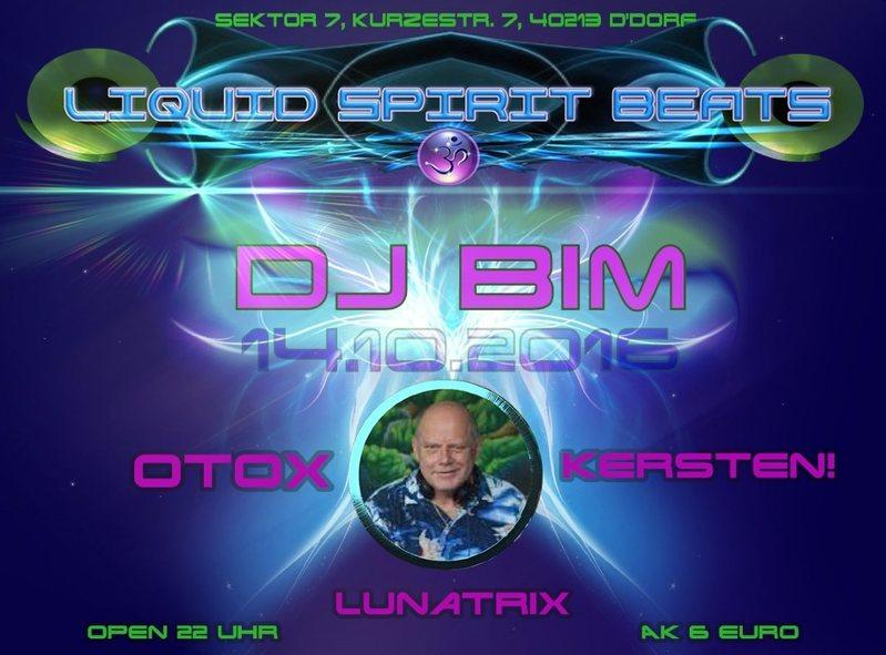 Party Flyer ॐ LIQUID SPIRIT BEATS ॐ 14 Oct '16, 22:00