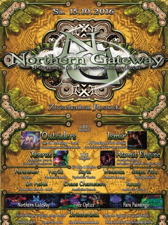 Party Flyer Northern Gateway - Outsiders & Ismir Live 15 Oct '16, 23:00