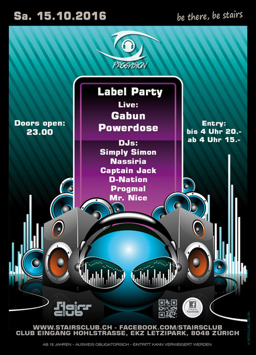 Party Flyer ProgVision Meets Stairs Round II 15 Oct '16, 23:00