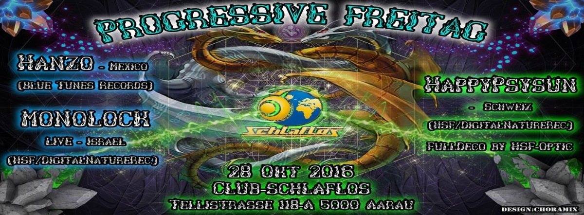 Party Flyer Progressive Freitag 28 Oct '16, 23:00