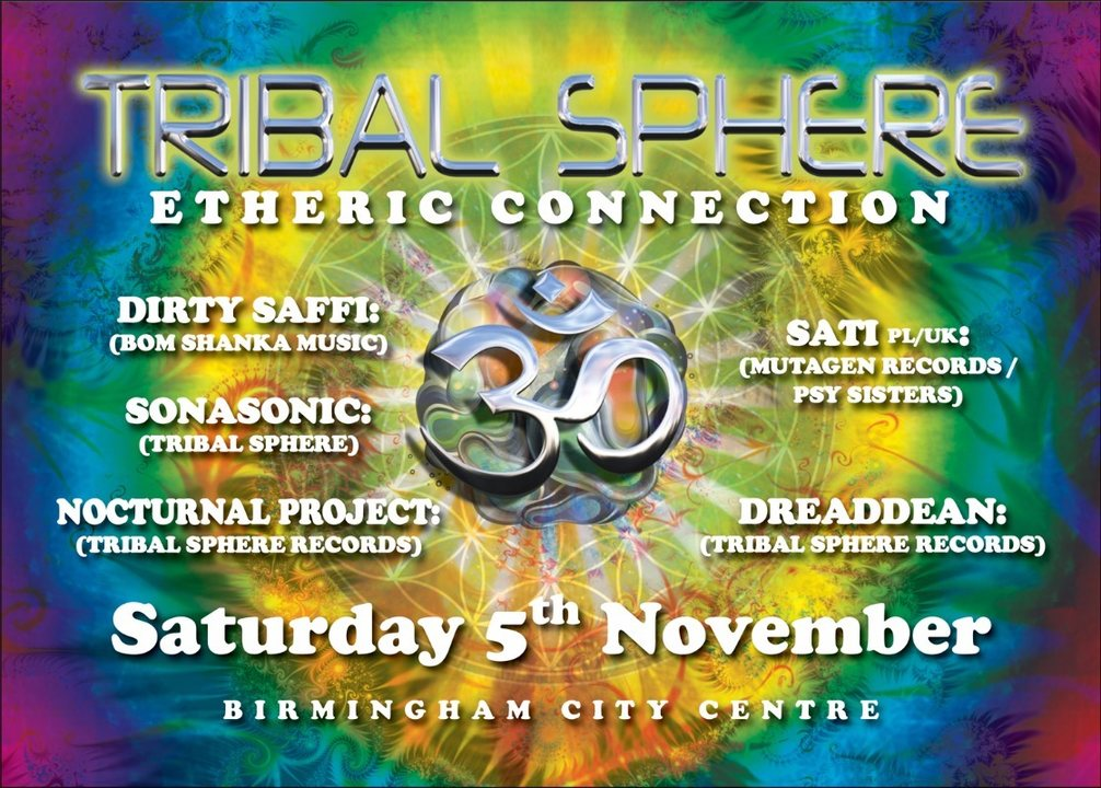 Party Flyer Tribal Sphere: Etheric Connection 5 Nov '16, 22:00
