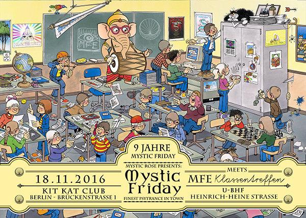 Party Flyer 9 Jahre Mystic Friday meets MfE Klassentreffen 18 Nov '16, 22:00