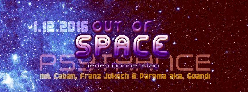 Party Flyer Out Of Space @ Weberknecht 1 Dec '16, 22:00