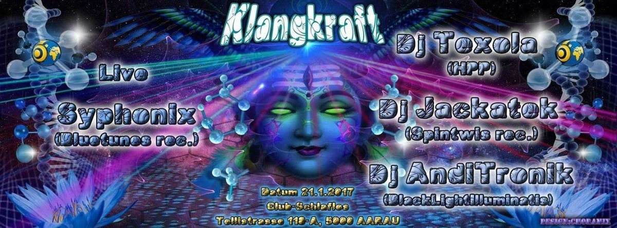 Party Flyer Klangkraft w/ Syphonix Live 21 Jan '17, 23:00