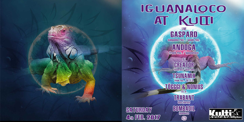 Party Flyer IGUANALOCO AT KULTI 4 Feb '17, 22:00