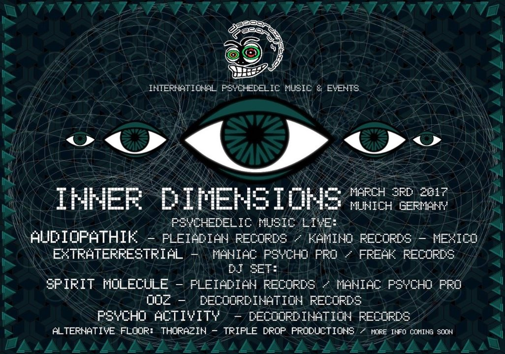Party Flyer INNER VIEW // Audiopathik & Extraterrestrial Live // Funktion-1 3 Mar '17, 22:00