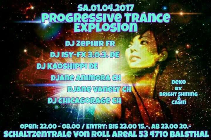 Party Flyer Progressiv/Trance EXPLOSION 1 Apr '17, 22:00