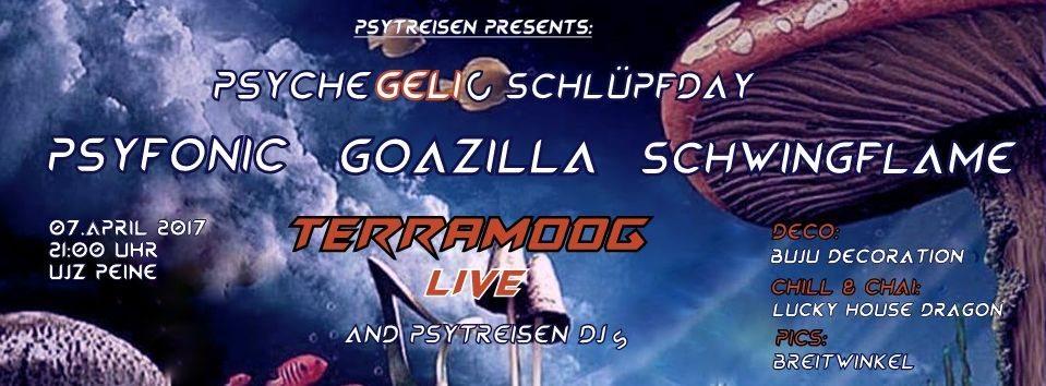 Party Flyer Psychegelic Schlüpfday 7 Apr '17, 21:00