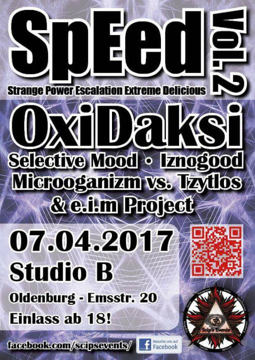 Party Flyer SpeEd Vol. 2 meets Oxidaksi 7 Apr '17, 22:00