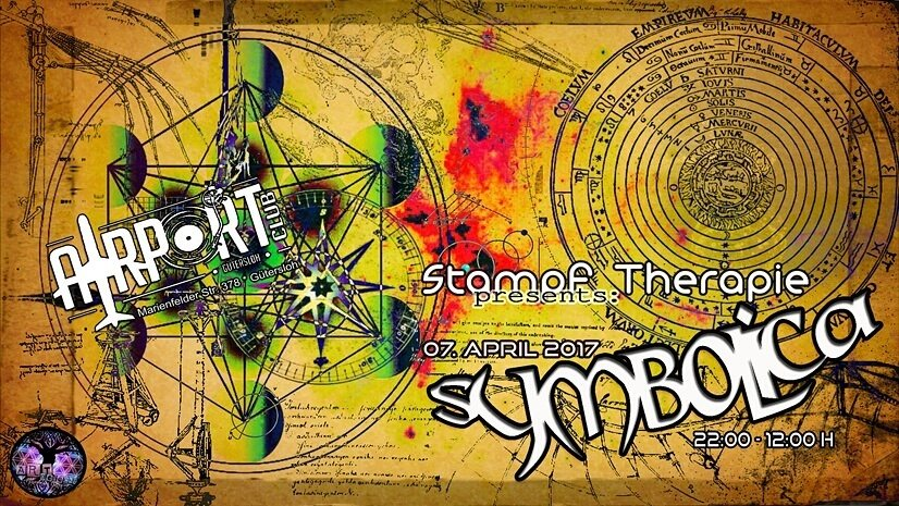 Party Flyer SYMBOLICA   Stampf Therapie 7 Apr '17, 22:00