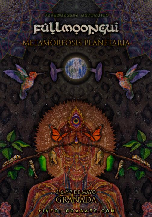 Party Flyer Fullmoongui - Metamorfosis Planetaria 5 May '17, 22:00