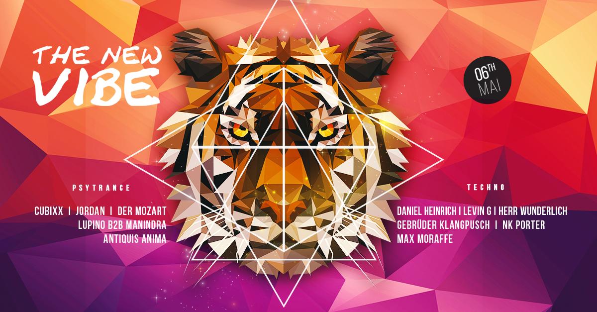 Party Flyer The New Vibe meets Proggynation // Cubixx, Daniel Heinrich uvm. 6 May '17, 23:00