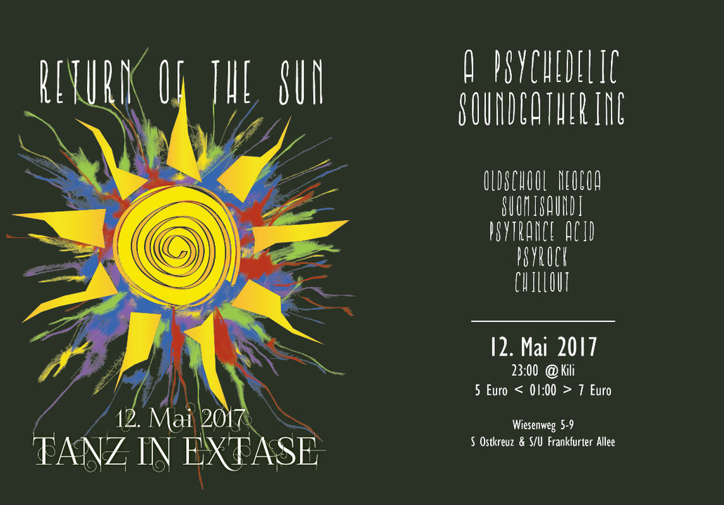 Party Flyer Return of the Sun | a Psychedelic Sound Gathering - Tanz in Ekstase 12 May '17, 23:00