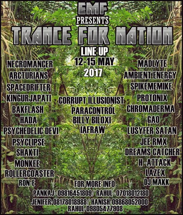 Party Flyer ॐ Trance for Nations 2017 ॐ 12 May '17, 15:00
