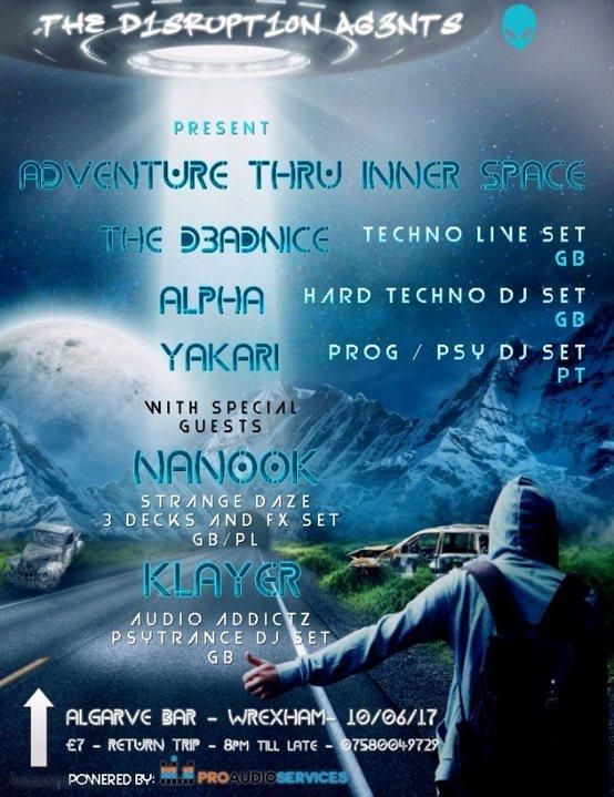 Party Flyer Adventure Thru Inner Space 10 Jun '17, 22:00