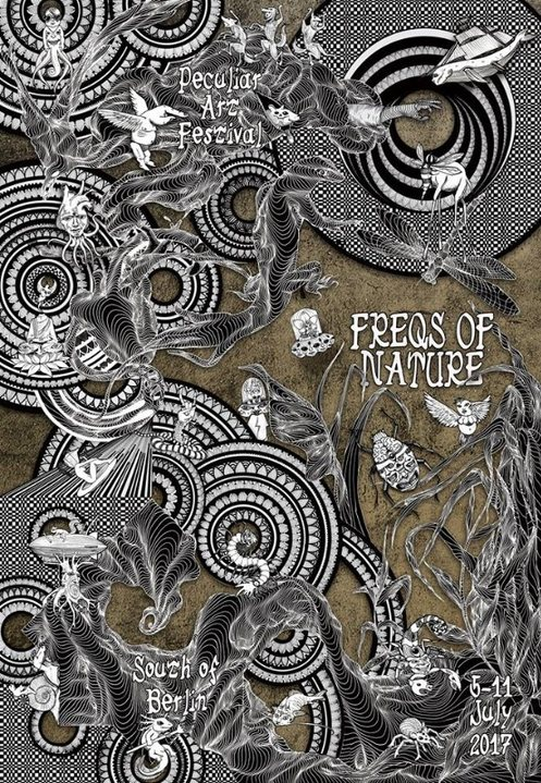 Party Flyer FREQS OF NATURE 2017 • Peculiar Art, Music and Engineering Festival 5 Jul '17, 10:00