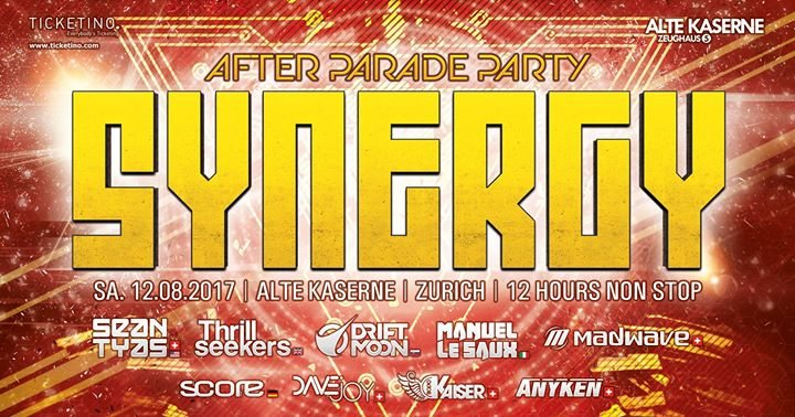SYNERGY After Parade Party 12 Aug '17, 22:00