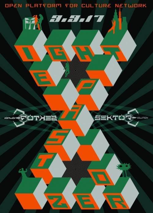 Party Flyer EIGHT PAST ZERO by Sektor Evolution / 3 Floors 9 Sep '17, 23:00