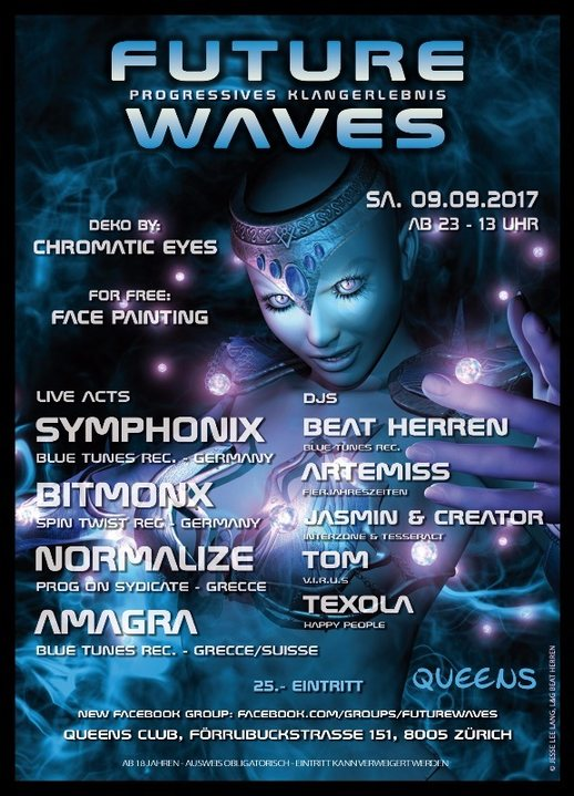 Party Flyer Future Waves 9 Sep '17, 23:00
