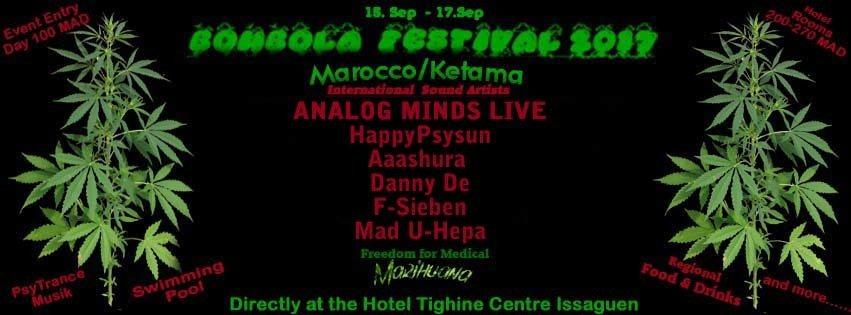 Bombola GANJA Festival 2017 ( Ketama Marocco ) 15 Sep '17, 14:00