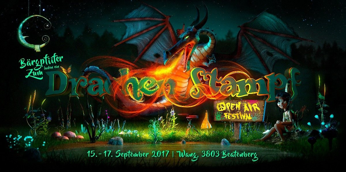 Party Flyer DrachenStampf Festival 15 Sep '17, 17:00
