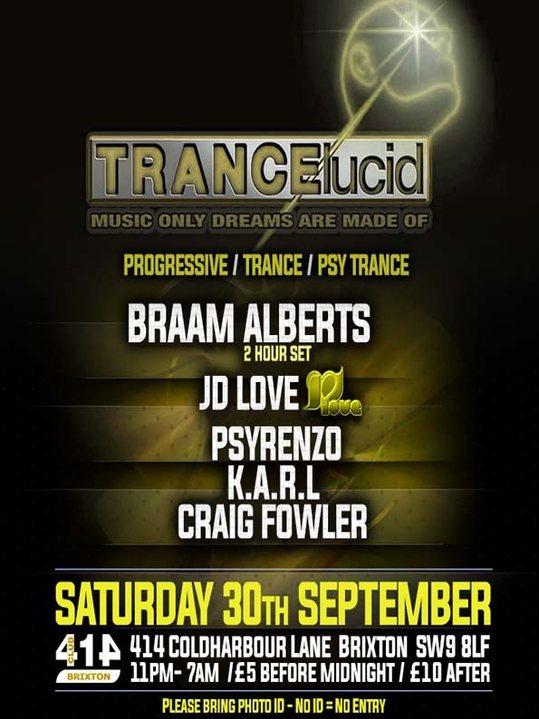 TRANCElucid - September Party 30 Sep '17, 23:00