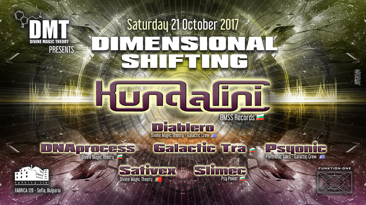 Party Flyer Divine Magic Theory: Dimensional Shifting 21 Oct '17, 22:00